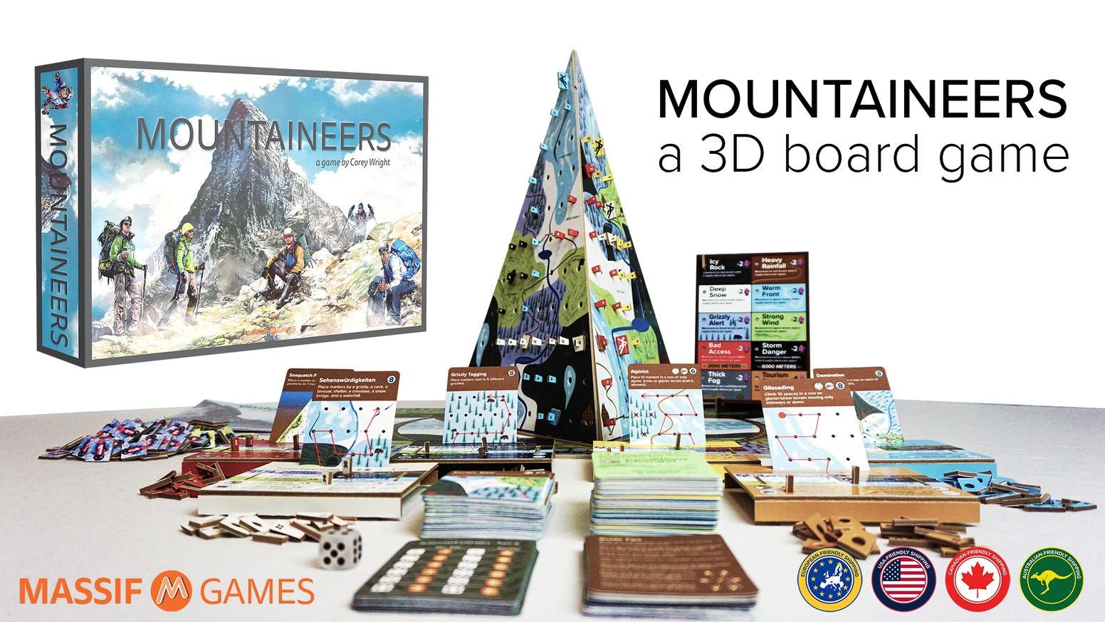 My Mountaineer Card >> Mountaineers A 3d Board Game By Corey Wright Kickstarter