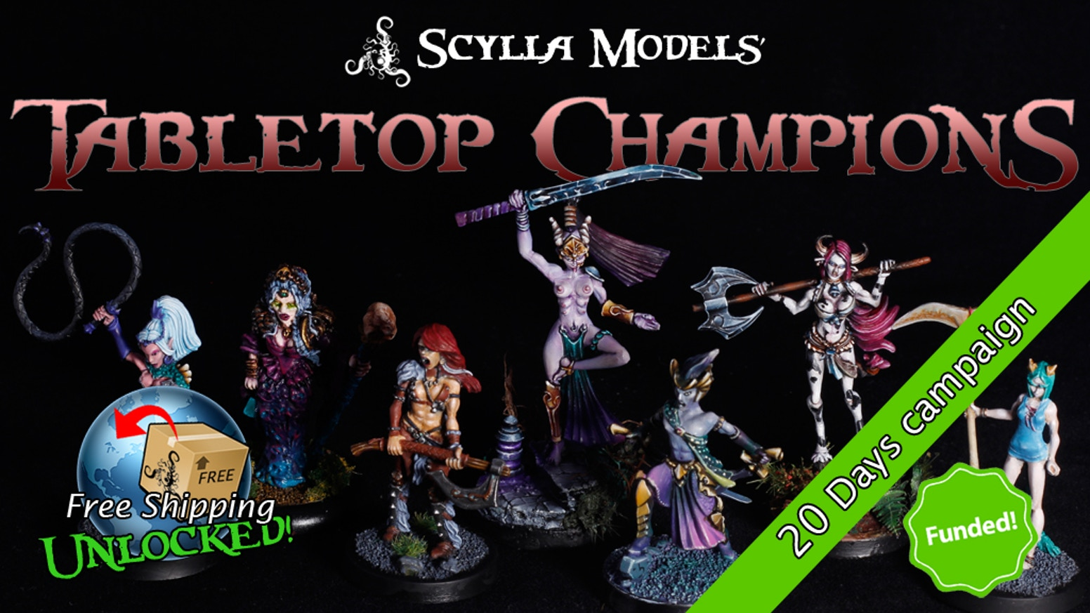 Scylla Models launches a fantasy miniature line to play as heroes (or foes) in yours roleplaying, tabletops, skirmishes and wargames.