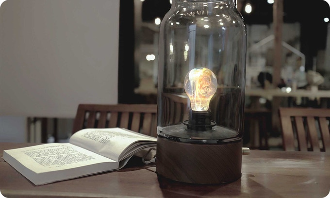 Be creative, E.P.Light can be screwed on like any regular light bulb