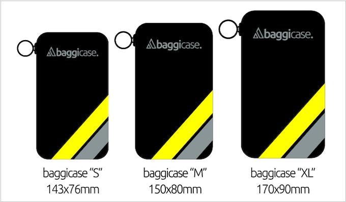 Baggicase estará disponible en tres tamaños diferentes.