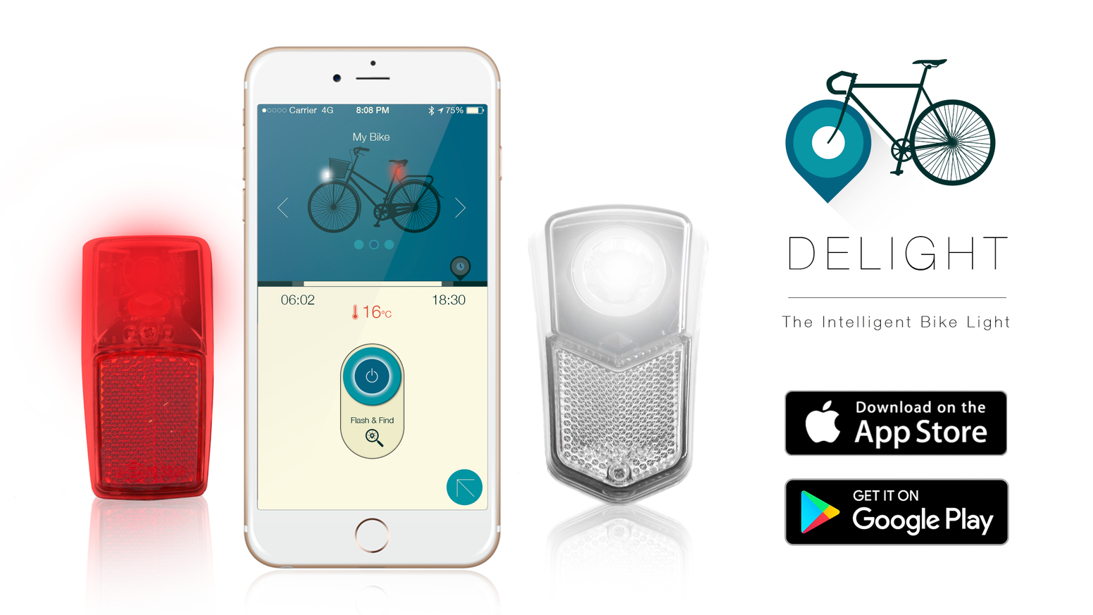 DeLight is a smartphone-enabled bike light that will give you a second chance to find your lost bike.