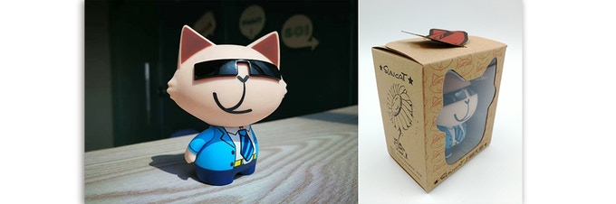 Pledge support of $10, and get a Big Cat Figurine by CEO designer and cartoonist, Summer Liao.