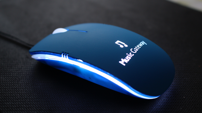 Our snazzy branded mouse!
