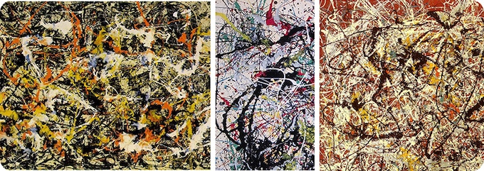 We are showing some of the works of Jackson Pollock here only for art history reference purpose