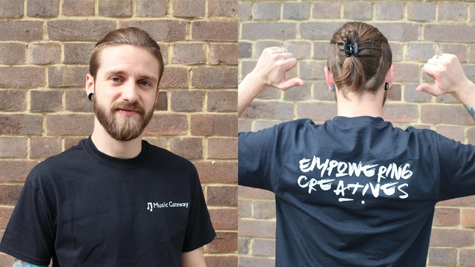 Lucas Iliev - (Sync & Licensing Manager) modelling our black tee!