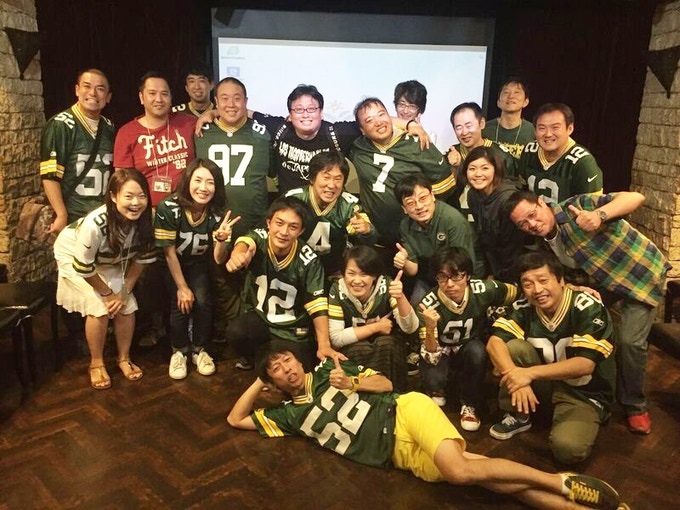 Japanese Packers Cheering Team