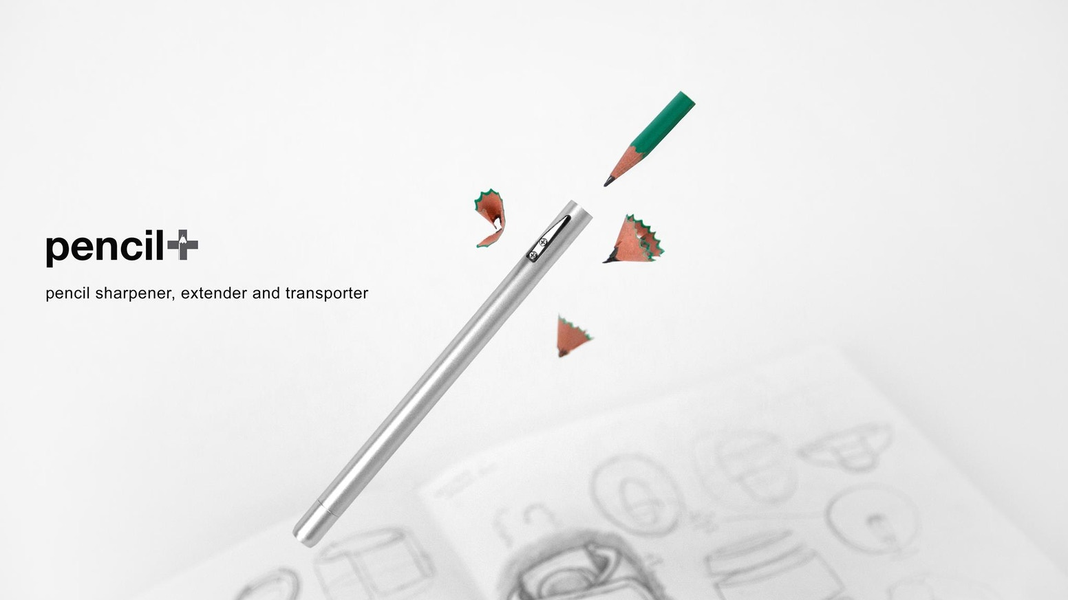 The pencil+ is designed to solve the problems of wooden pencils. No matter how short pencils get, or how often pencils break.