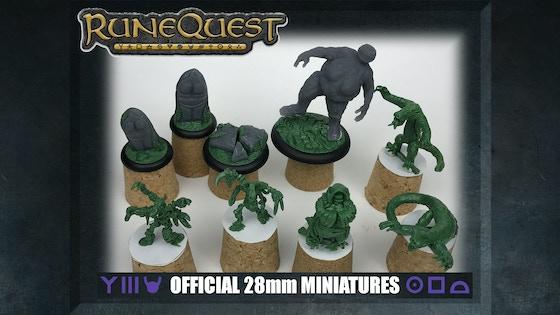 RuneQuest Quickstarter Miniatures