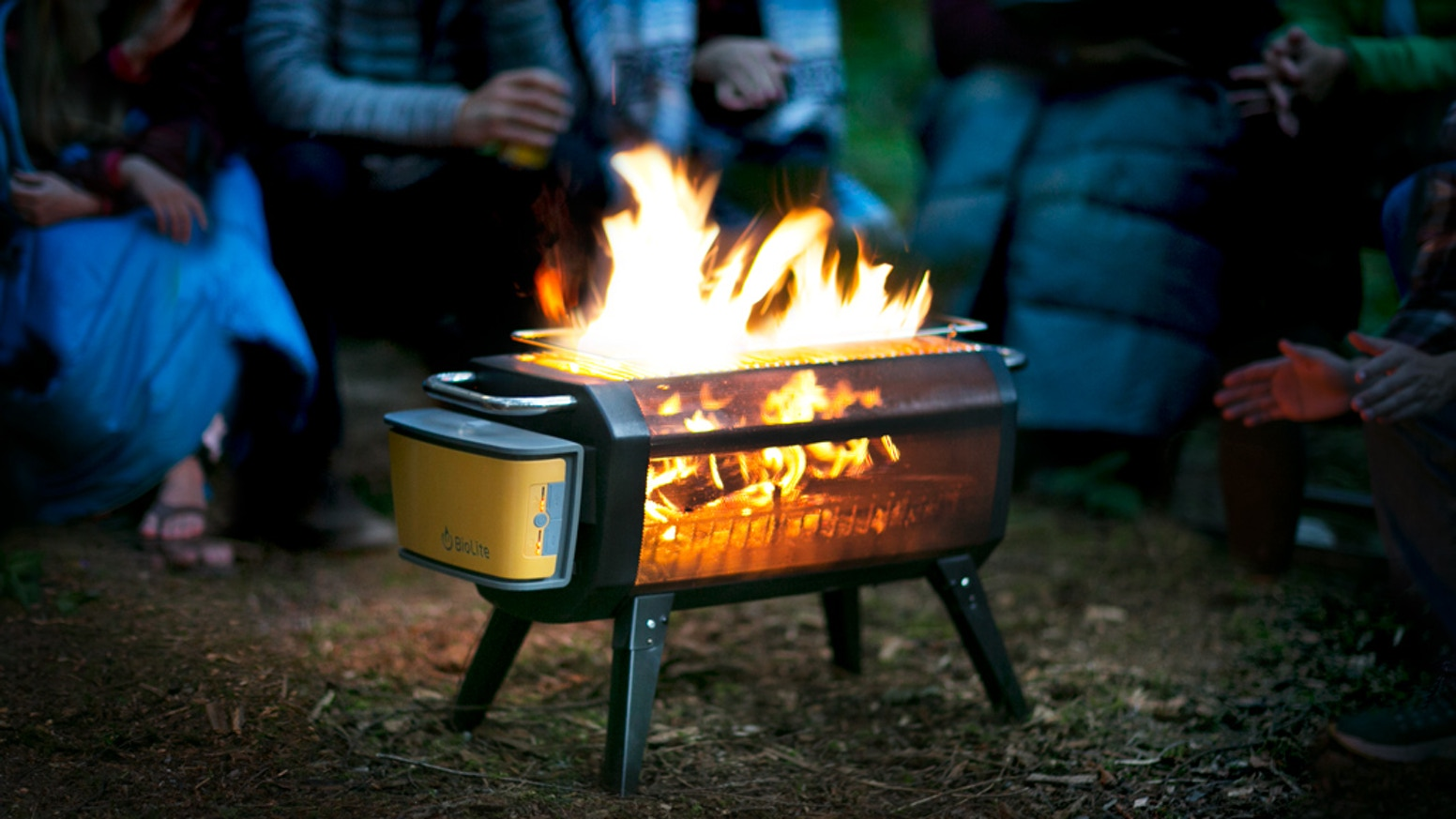 A smokeless wood-burning FirePit that can cook your meals and give you a front-row seat to everything going on inside your fire.