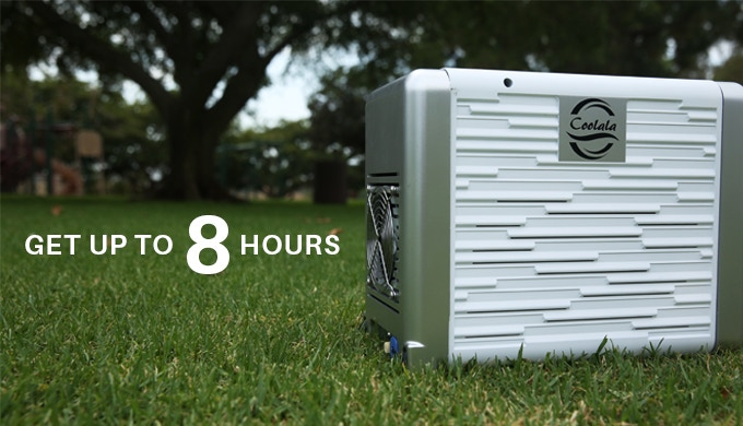 Affordable In/Outdoor SolarPowered Portable Air Conditioner by