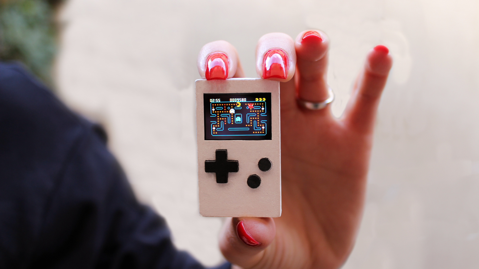A tiny keychain sized device for retro games inspired by the Gameboy of the late 80s!