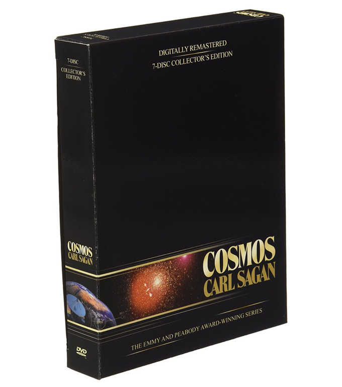 This is a digitally remastered, extended version of the original 7 disc set of Carl Sagan's COSMOS. A one-of-a-kind collectible, hand-signed by Ann Druyan.