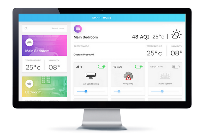 Bloom uses Wi-Fi to connect to your smart home platform and deliver indoor air quality data