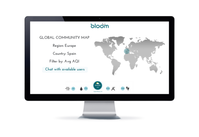 Connect with the Bloom global community and travel and air quality tips