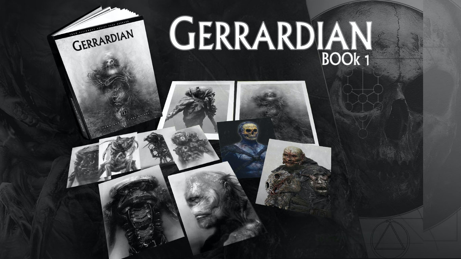 A glorious hardback book showcasing Gerrard's most personal and intense dark art.  Hellboy / Battle La / Shannara movie artist.