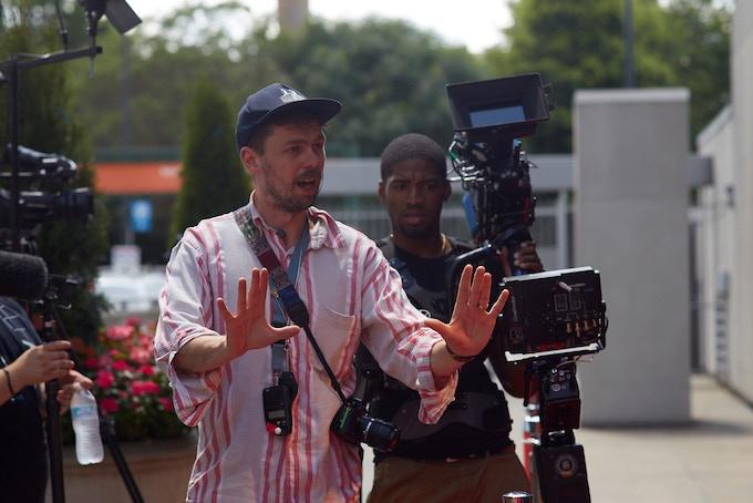 Richard on set in Atlanta, filming 'Edge Of The Blade'