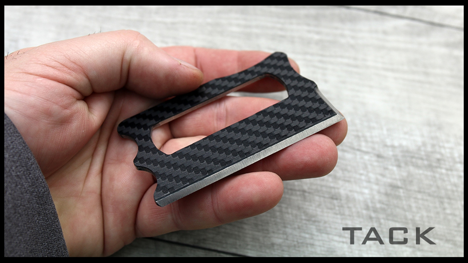 If you've missed out on our TACK wallet knife campaign, you may still pre-order one by clicking on the link below: