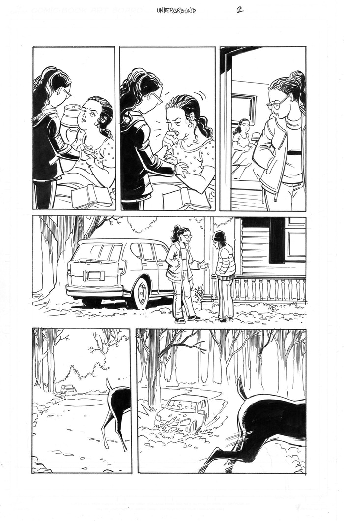 Underground pg 2 illustrated by Richard Case