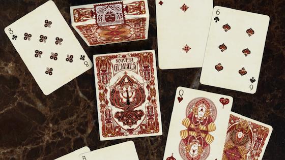 Nouveau Gemmes Playing Cards