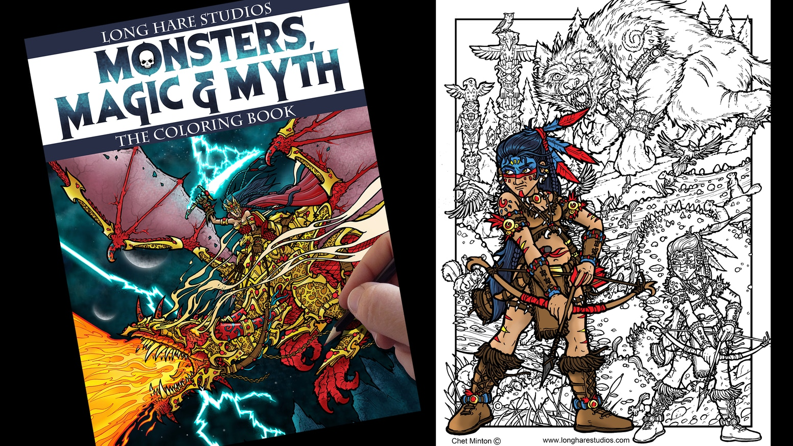 Monster, Magic and Myth - The Coloring Book by Chet Minton — Kickstarter
