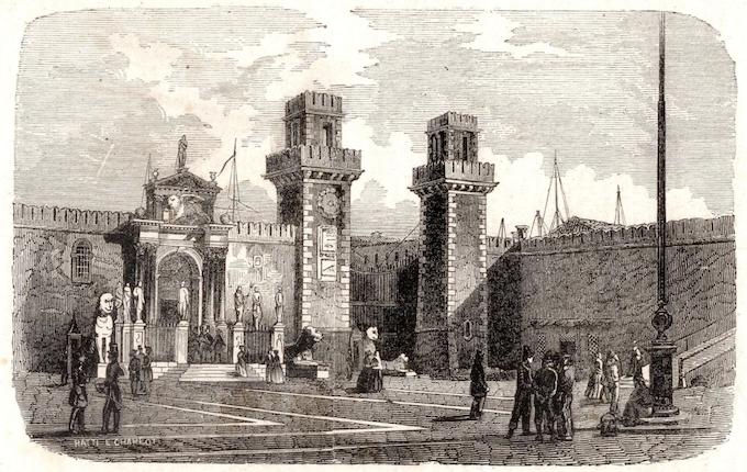 Arsenale (Venezia) 1866 Old Print