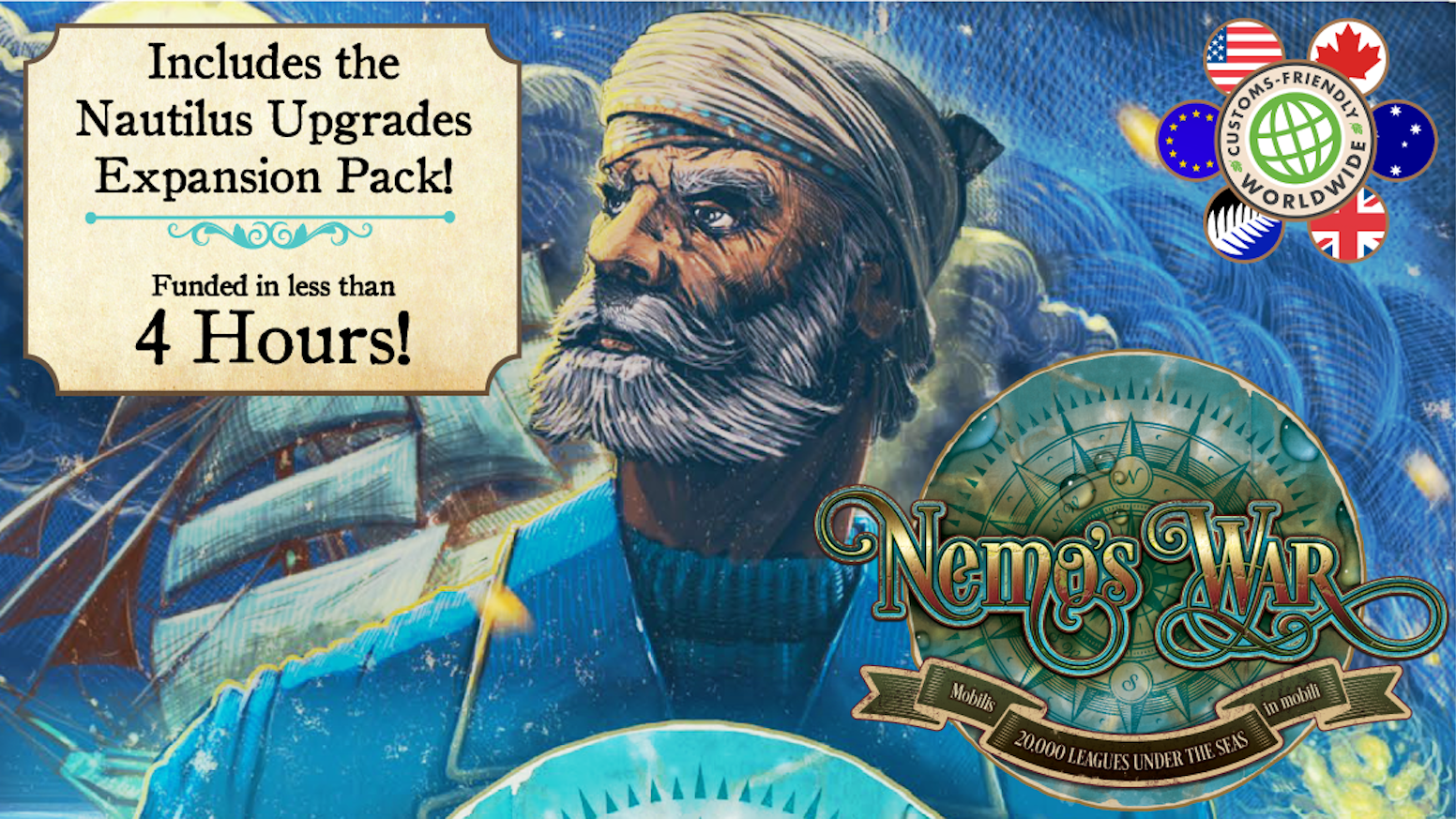 Nemo's War: Nautilus Upgrades Expansion + Reprint