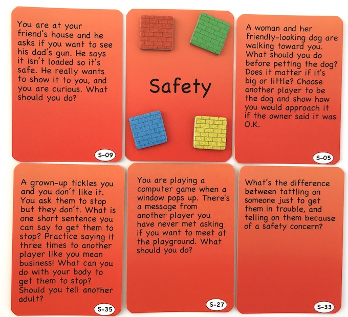 Would your kids know what to do? Safety Cards, © 2017 Jacqueline Dobranski