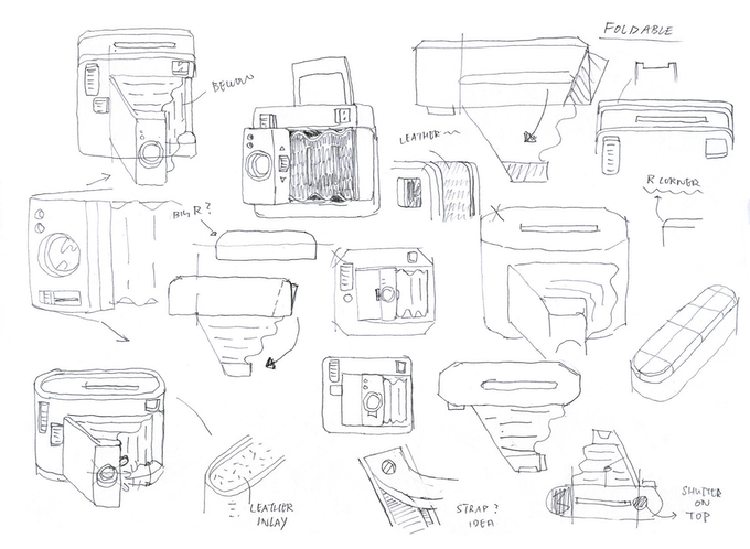 Early sketches of the Lomo'Instant Square