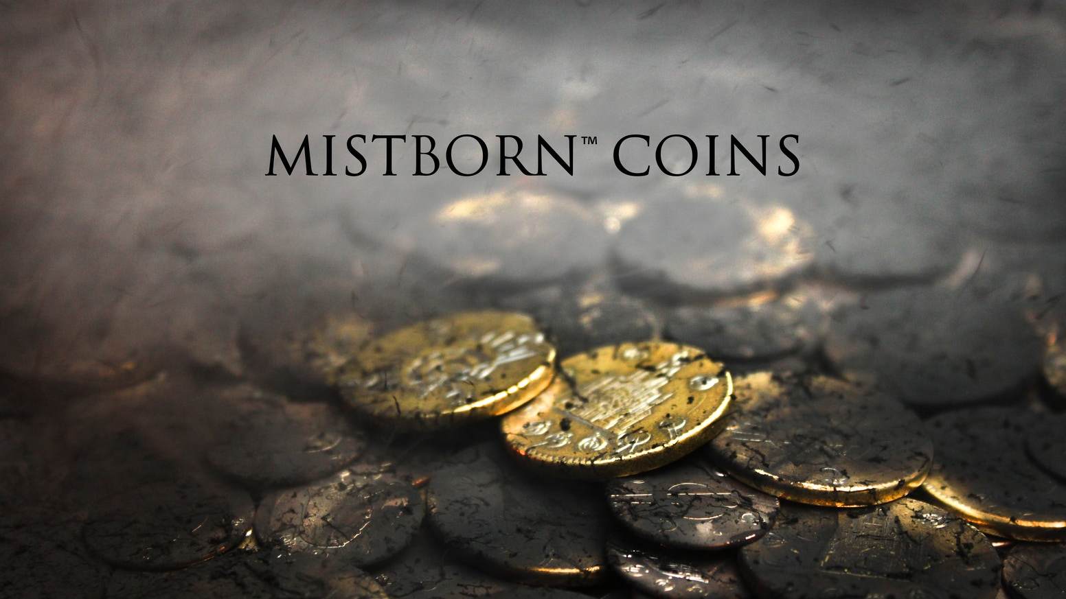 Collectible coins based on Brandon Sanderson's Mistborn series of novels. Boxings and Clips struck in solid brass and copper.