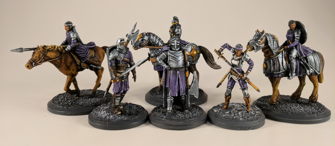 Arkland features both infantry and powerful cavalry models.