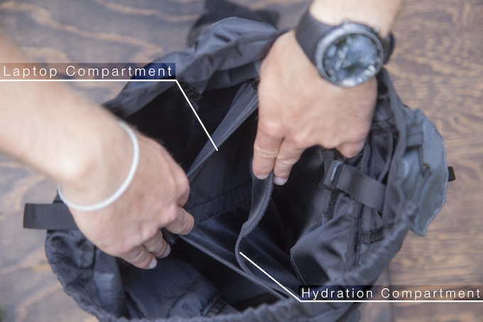 The Hydration Compartment and Laptop Sleeve Help You Stay Organized