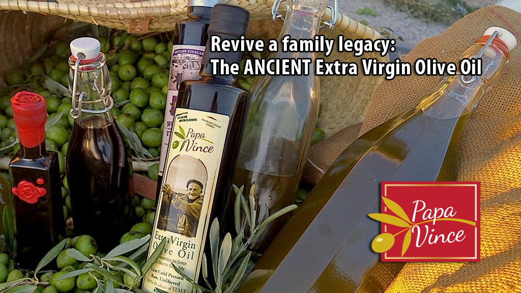 Revive a family legacy - The Ancient Extra Virgin Olive Oil project video thumbnail