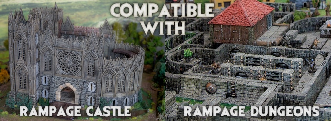 Rampage Gothic - 3d Printable Scenery Building System by Printable