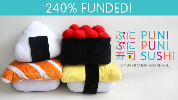 Love sushi as much as we do? The Puni Puni Sushi collection features 4 of your favourite sushi types as super soft huggable pillows!