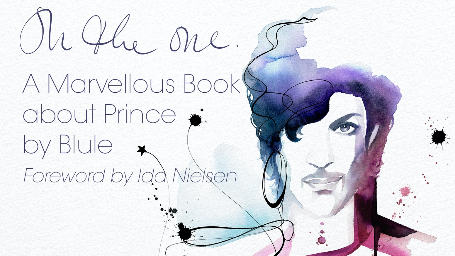 A unique tribute to a unique artist: 30 never seen before illustrations of Prince by Blule in a gorgeous, coffee table size, limited edition art book.