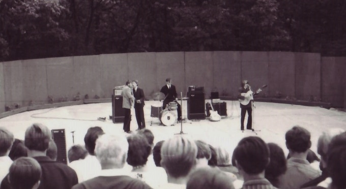 """My band The Funny Fools (credited by many as """"Europe's Greatest Sixities' Band"""") in front of thousands"""