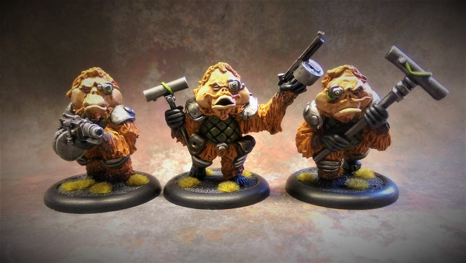 Auxiliary Pack 1 (3 miniatures on 40mm bases)