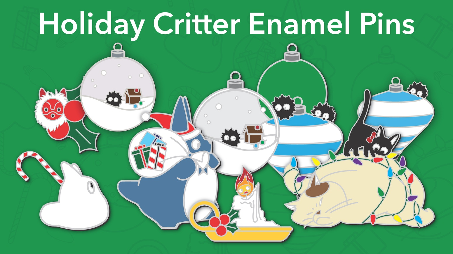 Holiday Critter Enamel Pins & Stickers by Amber M Coultis — Kickstarter