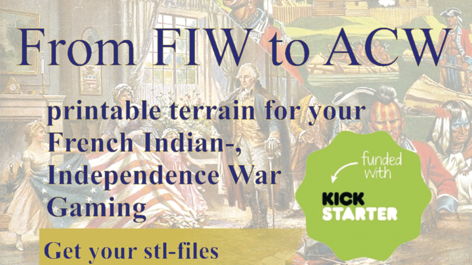Printable Terrain from French Indian War to American War of Independence - Tabletop Wargaming