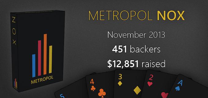 Metropol NOX playing cards - 451 backers - $12,851 - November 2013