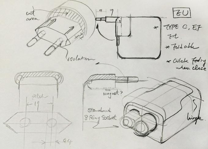 Original sketch for EU plug