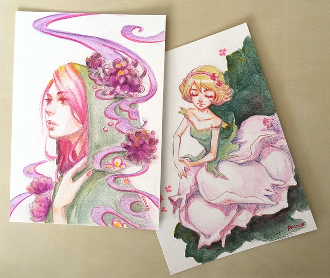 "Sample of one of a kind illustration in ""Artist Pack"""