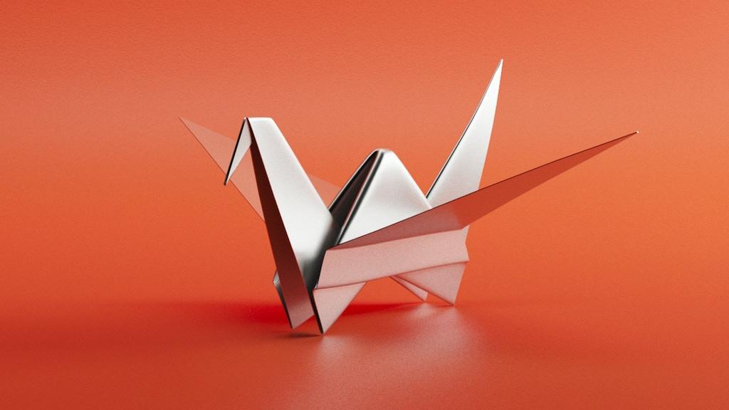 The Metal Origami Crane By Santiago Pendas Kickstarter