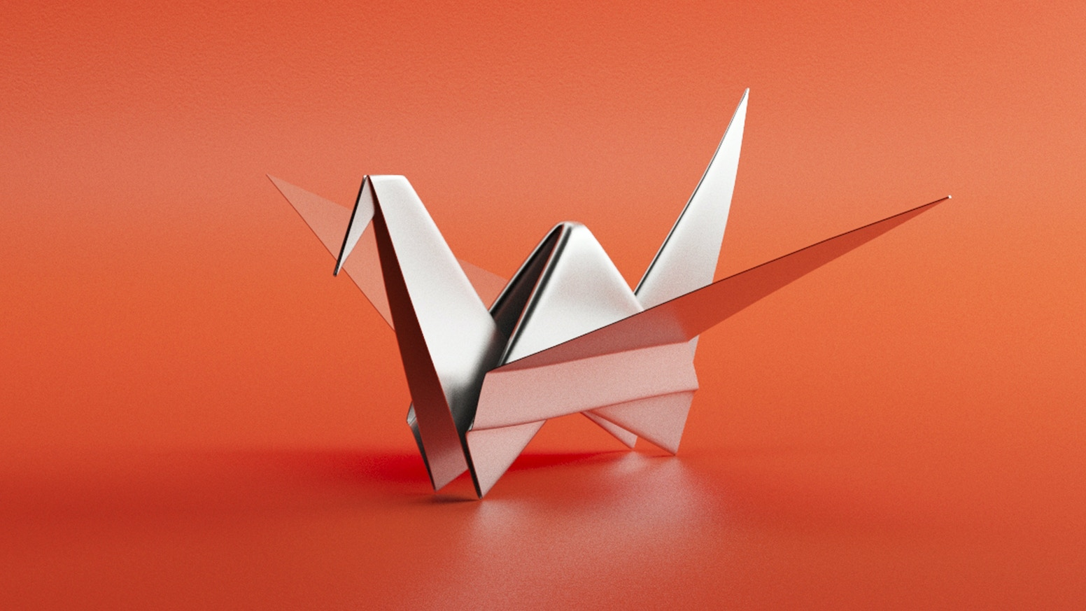 The Metal Origami Crane An Iconic Form Made From A Single Sheet Of Stainless Steel
