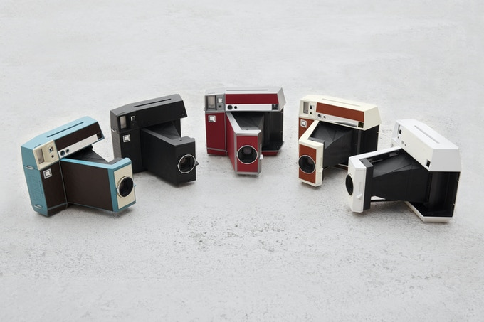 All editions of the Lomo'Instant Square from left to right: Kickstarter, Black, Pigalle, Ginza, White