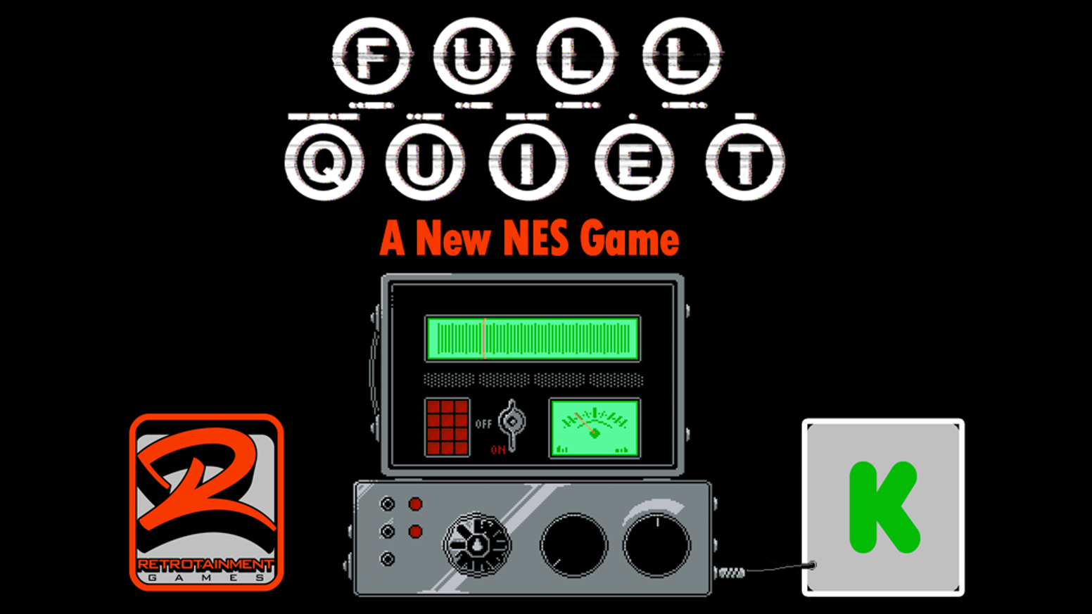 Full Quiet is our latest game for the NES and PC. Something has taken your son, you must venture deep into the forest to find him.