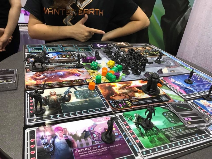 Character prototypes being shown at Gen Con 50