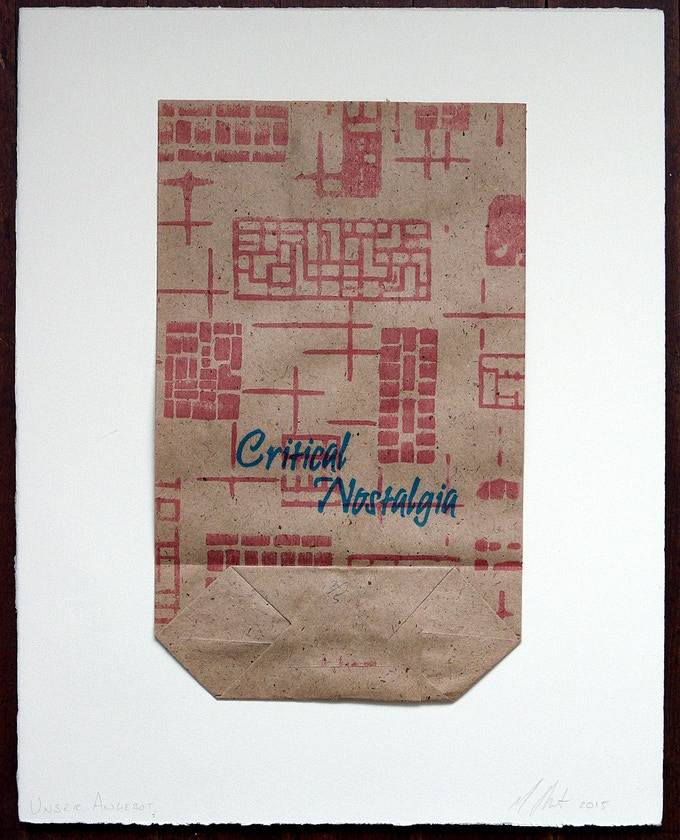 Limited-edition hand-stamped East German shopping bag