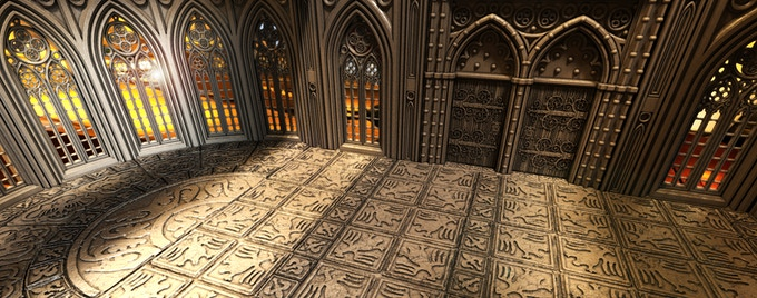 Interior with Medieval floors