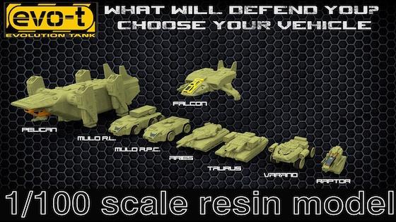 Evo-T Sci-Fi Models